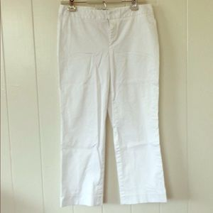 Banana Republic cropped white pants NWOT